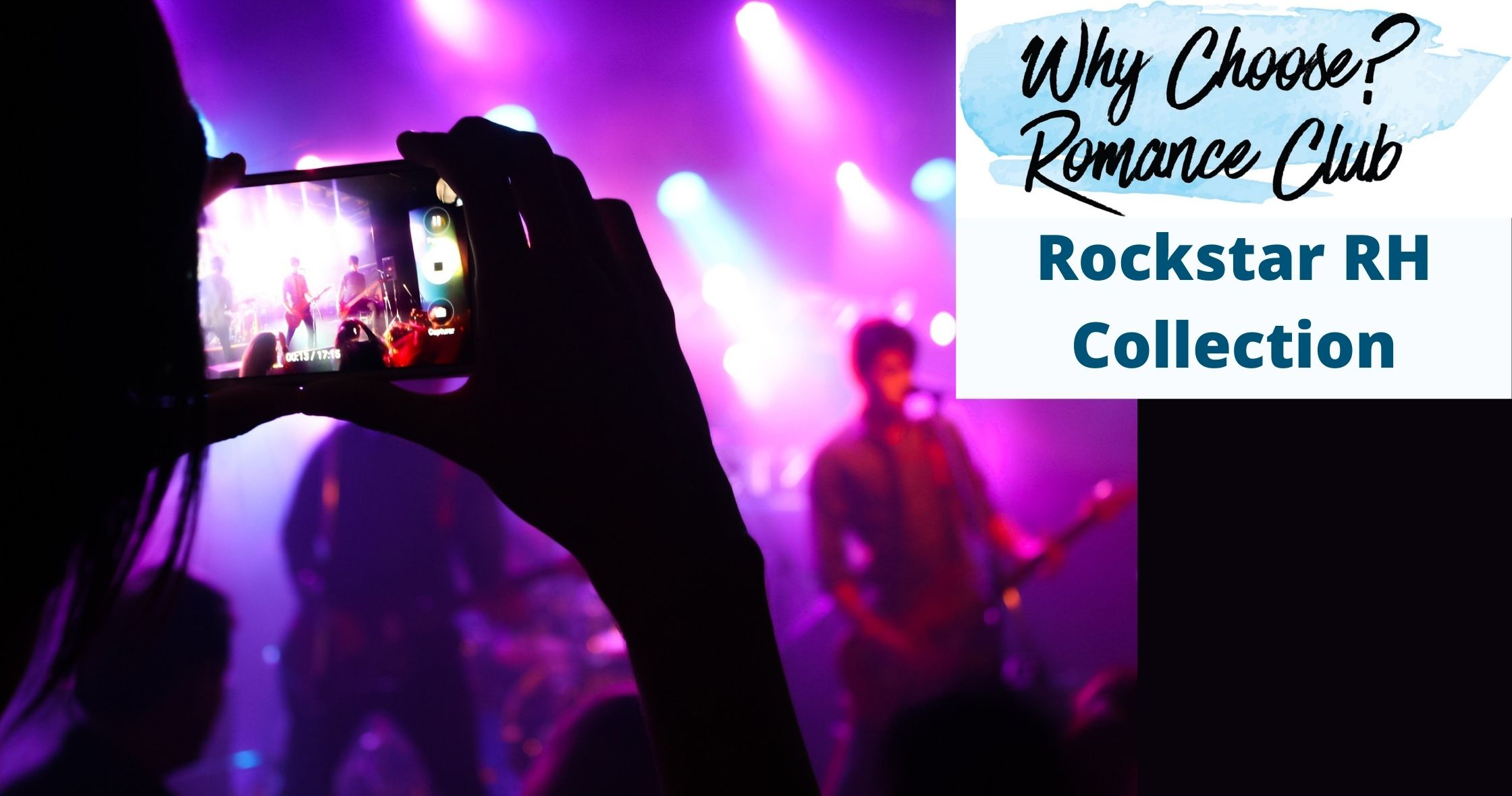 woman using phone to video record a band playing on stage